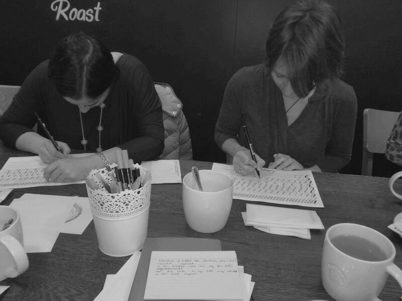 kalligráfia workshop tanulók